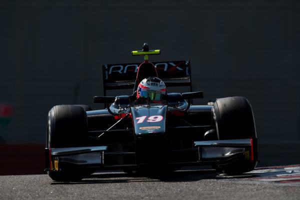 2017 FIA Formula 2 Test 3. Yas Marina Circuit, Abu Dhabi, United Arab Emirates. Thursday 30 November 2017. Rene Binder (AUT, Rapax).  Photo: Zak Mauger/FIA Formula 2. ref: Digital Image _O3I3488