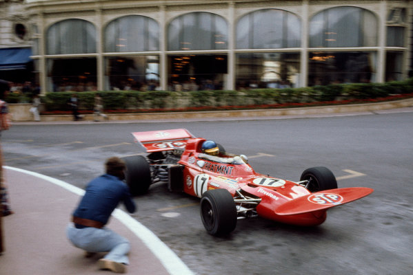 Monte Carlo, Monaco. 20th - 23rd May 1971.Ronnie Peterson (March 711-Ford), 2nd position, action.World Copyright: LAT Photographic.Ref: Colour Transparency.