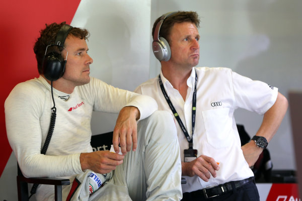 2016 FIA World Endurance Championship, Nurburgring, Germany. 22nd-24th July 2016, Marcel Fassler and Allan McNish World Copyright. Jakob Ebrey/LAT Photographic