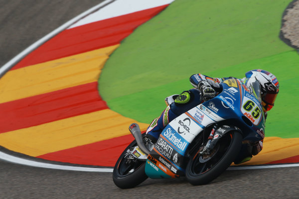 2017 Moto3 Championship - Round 14 Aragon, Spain. Saturday 23 September 2017 Philipp Ottl, Schedl GP Racing World Copyright: Gold and Goose / LAT Images ref: Digital Image 14015
