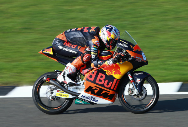 2017 Moto3 Championship - Round 12 Silverstone, Northamptonshire, UK. Friday 25 August 2017 Bo Bendsneyder, Red Bull KTM Ajo World Copyright: Gold and Goose / LAT Images ref: Digital Image 688459