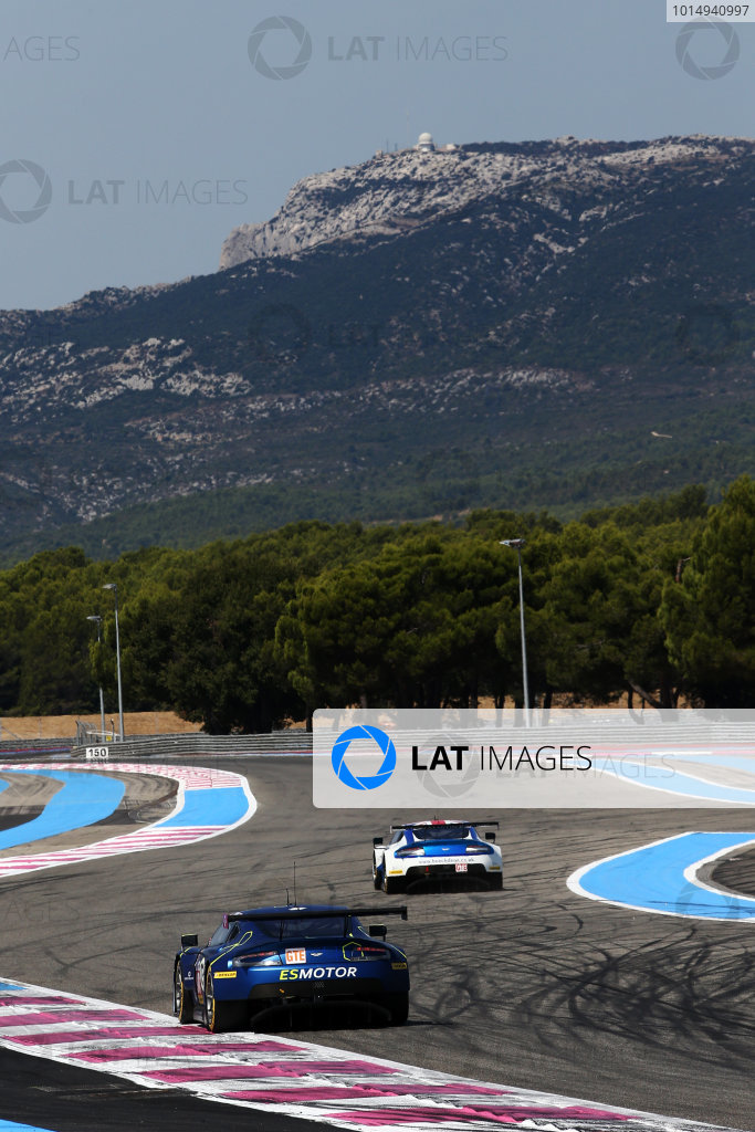 2017 European Le Mans Series, Le Castellet, France. 25th - 27th August 2017. #90 Salih Yoluc (TUR) / Euan Hankey (GBR) / Nicki Thiim (DNK) - TF SPORT - Aston Martin V8 Vantage World Copyright: JEP/LAT Images