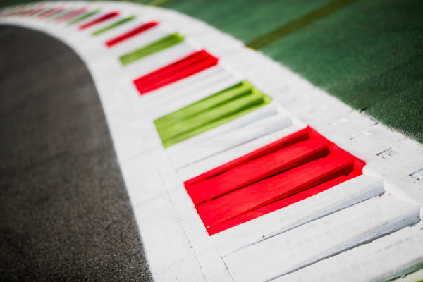 2017 FIA Formula 2 Round 9. Autodromo Nazionale di Monza, Monza, Italy. Thursday 31 August 2017. Kerbs. Photo: Zak Mauger/FIA Formula 2. ref: Digital Image _54I4873