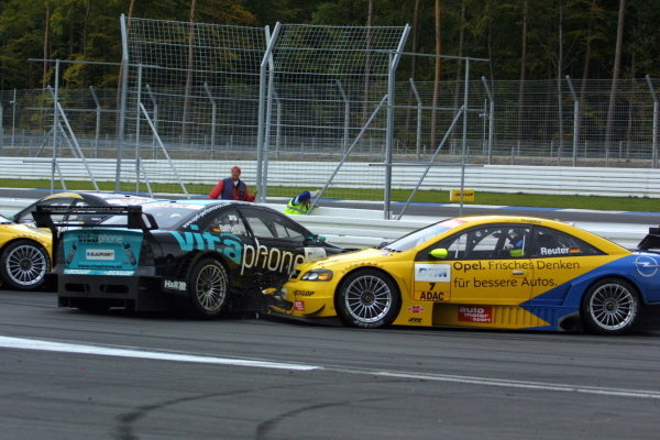Manuel Reuter (GER), Opel Team Phoenix Astra Coupe, was forced to retire early when he was unable to avoid a collision with fellow Opel driver Michael Bartels (GER) Opel Team Holzer Astra Coupe.