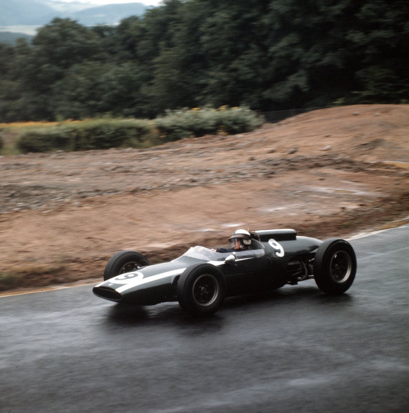 Nurburgring, Germany.3-5 August 1962.Bruce McLaren (Cooper T60 Climax) 5th position.Ref-3/0616.World Copyright - LAT Photographic