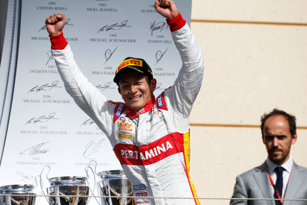 2015 GP2 Series Round 1 - Bahrain International Circuit, Bahrain. Sunday 19 April 2015. Rio Haryanto (INA, Campos Racing)  Photo: Glenn Dunbar/GP2 Series Media Service. ref: Digital Image _W2Q9242