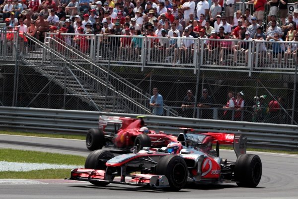 Jenson Button (GBR) McLaren MP4/25. Formula One World Championship, Rd 8, Canadian Grand Prix, Race, Montreal, Canada, Sunday 13 June 2010.