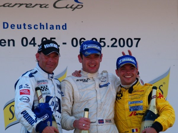 Round 2Oschersleben (GER) 4.-6. May 2007Podium2nd Uwe Alzen (GER) HP Team Herberth1st Richard Westbrook (GB) ARAXA Racing PZReutlingen3rd Nicolas Armindo (FRA) Tolimit