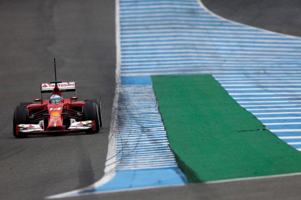 2014 F1 Pre Season Test 1 - Day 4 Circuito de Jerez, Jerez, Spain. Friday 31 January 2014. Fernando Alonso, Ferrari F14T. World Copyright: Andrew Ferraro/LAT Photographic. ref: Digital Image _79P7818.JPG