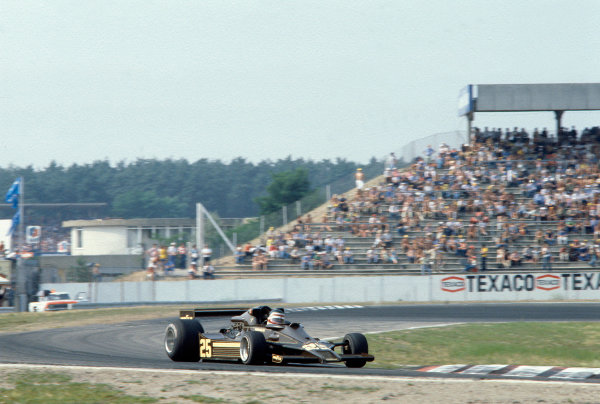 1978 German Grand Prix Hockenheim, Germany. 28th - 30th July 1978 Hector rebaque (Lotus 78 Cosworth), 6th position. World Copyright: LAT Photographic Ref: 78GER19