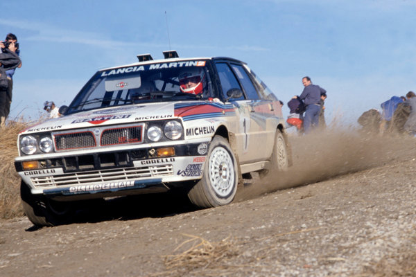 1988 World Rally Championship. Sanremo Rally, Italy. Miki Biasion(Lancia Delta) 1st position. World Copyright:LAT Photographic Ref:35mm Image