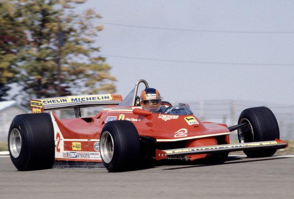 1980 United States Grand Prix East.Watkins Glen, New York, USA.3-5 October 1980.Gilles Villeneuve (Ferrari 312T5).Ref-80 USA 24.World Copyright - LAT Photographic