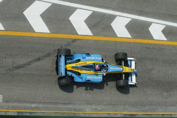 2003 San Marino Grand Prix - Friday 1st QualifyingImola, Italy. 18th April 2003Jarno Trulli, Renault R23, action.World Copyright: Steve Etherington/LAT Photographic ref: Digital Image Only
