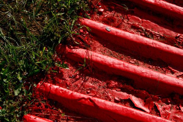 Hungaroring, Budapest, Hungary31st July 2008Kerbs. Circuit Detail.World Copyright: Charles Coates/LAT Photographicref: Digital Image _26Y1066
