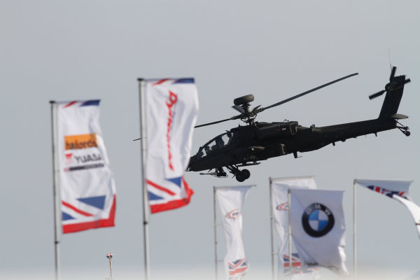 2016 British Touring Car Championship, Thruxton, 7th-8th May 2016, Apache helicopter World copyright. Jakob Ebrey/LAT Photographic