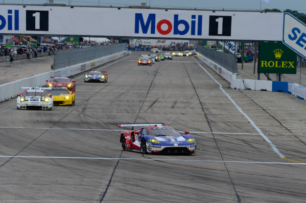 16-19 March, 2016, Sebring, Florida USA 67, Ford GT, GT, GTLM, Ryan Briscoe, Scott Dixon, Richard Westbrook ?2016, Richard Dole LAT Photo USA