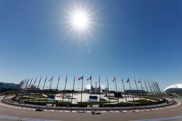 Sochi Autodrom, Sochi, Russia. Friday 28 April 2017. Felipe Massa, Williams FW40 Mercedes, leads Carlos Sainz Jr, Toro Rosso STR12 Renault.  World Copyright: Glenn Dunbar/LAT Images ref: Digital Image _X4I5541