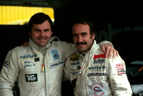 Williams team mates for a new season: Alan Jones (AUS) (left) and Clay Regazzoni (SUI) They finished ninth and tenth respectively in the race.  Argentinean Grand Prix, Buenos Aires, 21 January 1979.