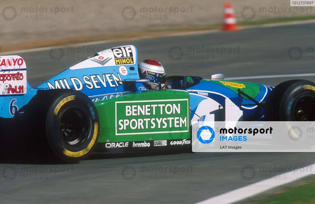 1994 European Grand Prix.Jerez, Spain.14-16 October 1994.Jos Verstappen (Benetton B194 Ford). He exited the race after spinning out.Ref-94 EUR 18.World Copyright - LAT Photographic