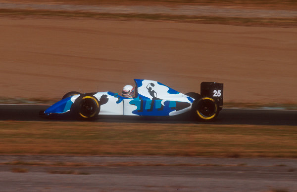 1993 Japanese Grand Prix.Suzuka, Japan.22-24 October 1993.Martin Brundle (Ligier JS39 Renault) 9th position in his Gitanes Blondes liveried art car, due to the brand's Japanese launch.Ref-93 JAP 17.World Copyright - LAT Photographic