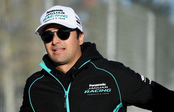 Nelson Piquet Jr. (BRA), Panasonic Jaguar Racing, walks the track