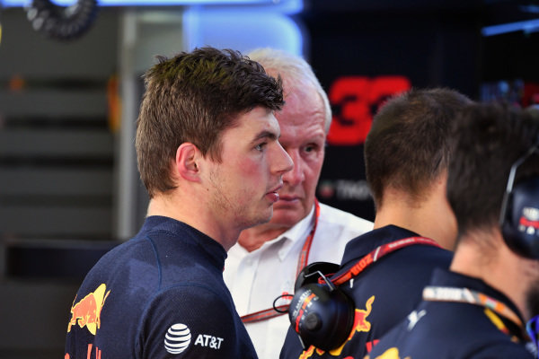 Max Verstappen (NED) Red Bull Racing and Dr Helmut Marko (AUT) Red Bull Motorsport Consultant