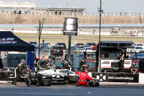 Simon Pagenaud, Team Penske Chevrolet, in the pitlane Copyright: Joe Skibinski - IMS Photo