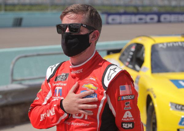 Justin Allgaier, JR Motorsports Chevrolet Thank You Team, Copyright: Chris Graythen/Getty Images.