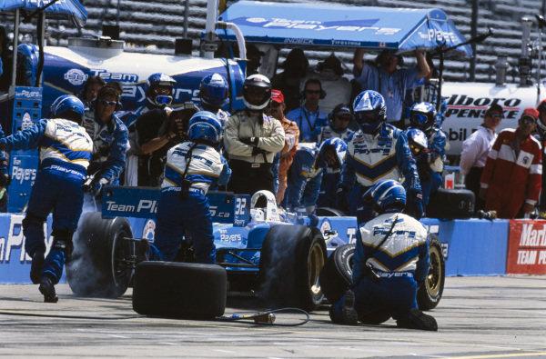 Patrick Carpentier, Forsythe Racing, Reynard 01i Ford, makes a pitstop.