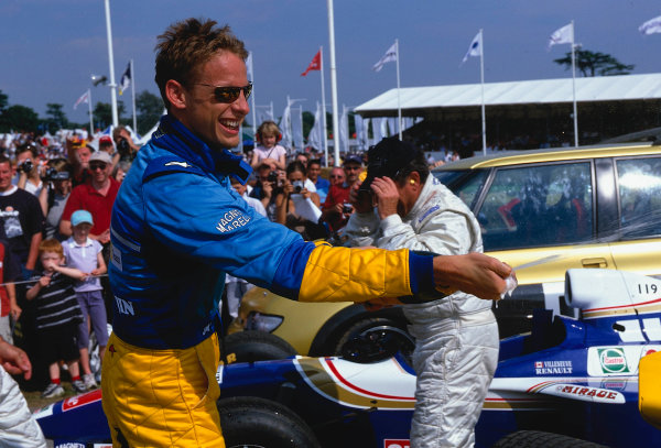 2002 Goodwood Festival of SpeedGoodwood, England. 12th - 14th July 2002.Jenson Button, Renault R202, portrait.World Copyright: Jeff Bloxham/LAT Photographicref: 35mm Image A22