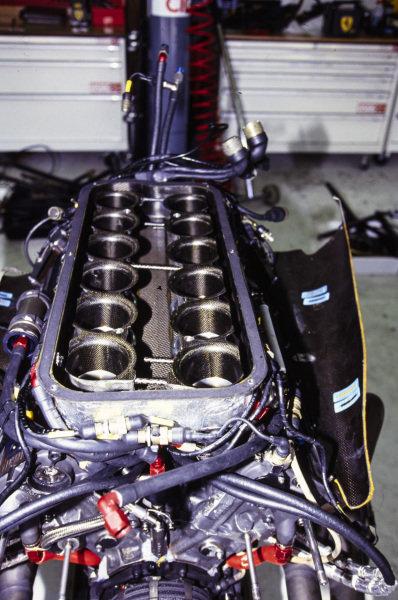 The Ferrari V12 engine.