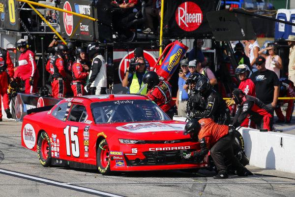#15: Tyler Matthews, JD Motorsports, Chevrolet Camaro LineTec Services pit stop