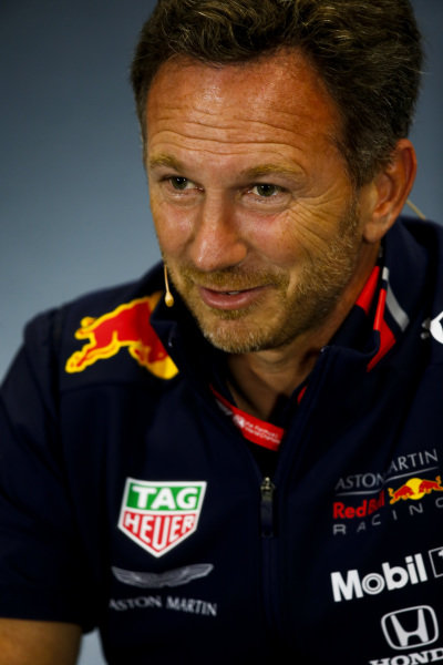 Christian Horner, Team Principal, Red Bull Racing, in the team principals Press Conference
