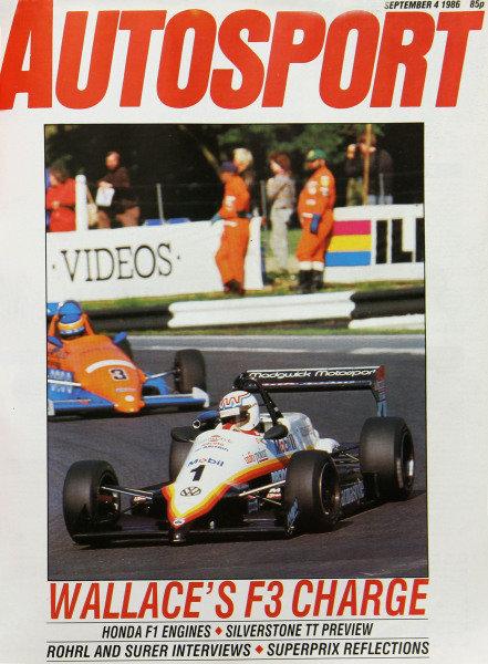 Cover of Autosport magazine, 4th September 1986