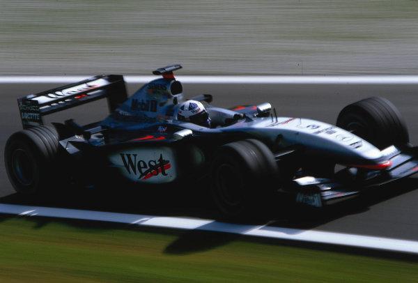 2002 Austrian Grand Prix.A1-Ring, Zeltweg, Austria.10-12 May 2002.David Coulthard (McLaren MP4/17 Mercedes) 6th position.Ref-02 AUT 29.World Copyright - LAT Photographic