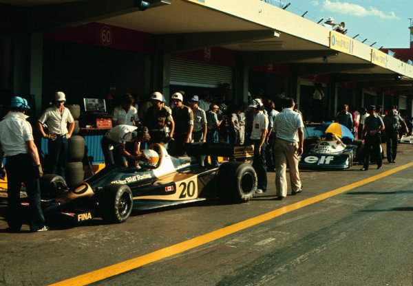 1977 Argentinian Grand Prix.Buenos Aires, Argentina.7-9 January 1977.Jody Scheckter (Wolf WR1 Ford) 1st position.World Copyright - LAT Photographic