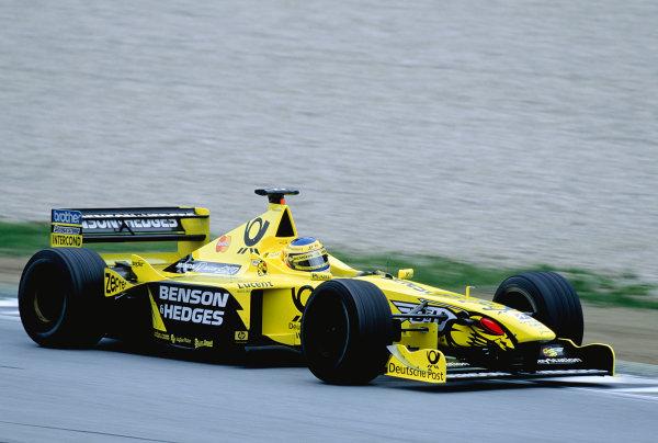 2000 Austrian Grand Prix. A1-Ring, Zeltweg, Austria.  14-16 July 2000. Jarno Trulli (Jordan EJ10 Mugen Honda). Ref-2K AUT 72. World Copyright - Charles Coates/LAT Photographic