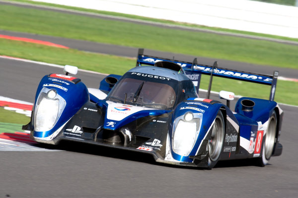 10th/11th&12th September 2011Silverstone, Northants.Sarrazin / Montagny (#8 Peugeot Sport Total Peugeot 908, LMP1). Action.Image Copyright Malcolm Griffiths/LATDigital Image _H0Y3141 jpg
